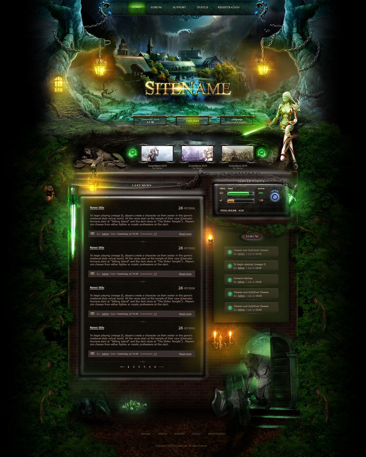 forest web template