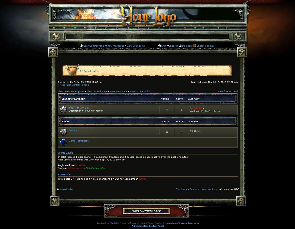 Fantasy forum skin phpbb maxwellsz