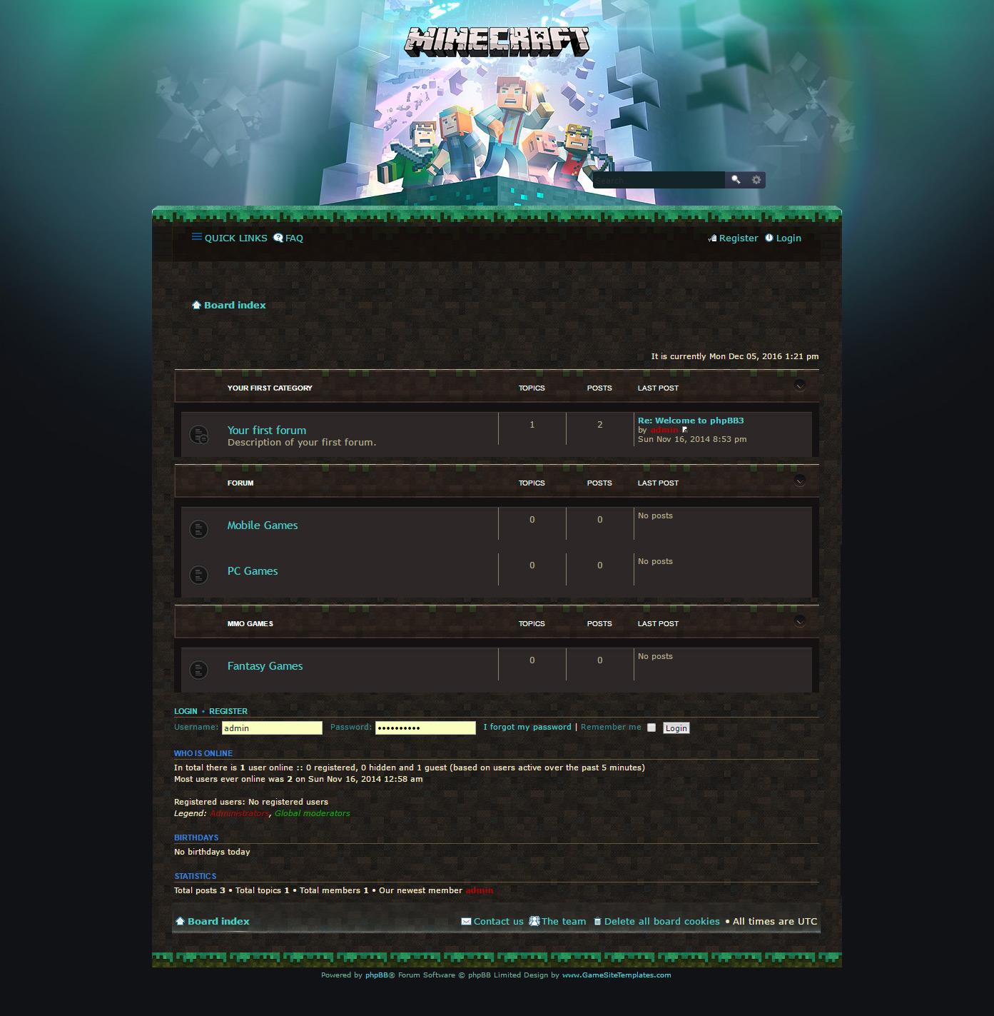 minecraft coders forum skin