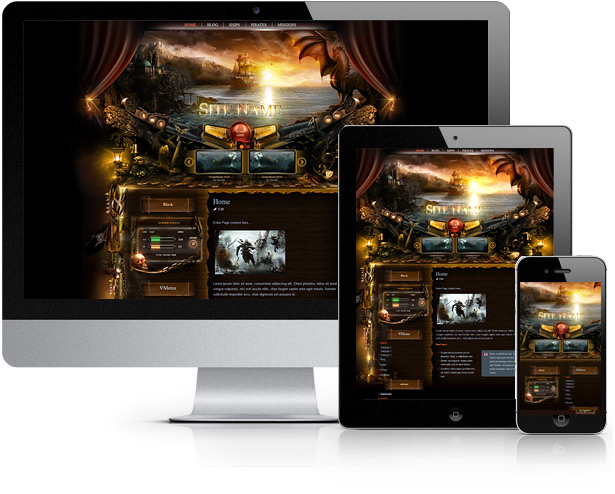 pirates joomla template