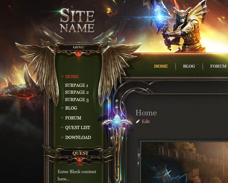 Role Playing Game HTML Template on kodu game design, google sketchup game design, web game design, android game design, photoshop game design, uat game design, rpg game design,
